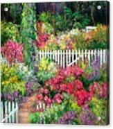 Birdhouse Garden Acrylic Print