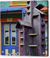 Birdhouses For Colorful Birds 2 Acrylic Print