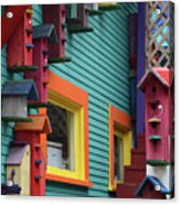 Birdhouses For Colorful Birds 3 Acrylic Print