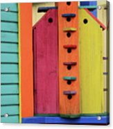 Birdhouses For Colorful Birds 5 Acrylic Print