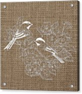 Birds And Burlap 2 Acrylic Print