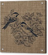 Birds And Burlap 1 Acrylic Print