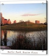 Birds And Fun At Butler Park Austin - Silhouettes 1 Poster And Greeting Card Acrylic Print