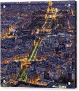 Bird's Eye On Paris 1 Acrylic Print