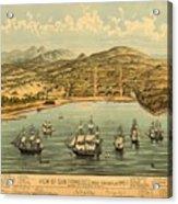 Birds Eye View Map Of San Francisco 1846 Acrylic Print