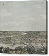 Birds-eye View Of Pittsburgh Acrylic Print