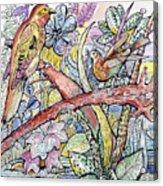 Birds For Louise #3 Acrylic Print