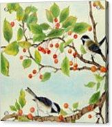 Birds In Autumn Season II Acrylic Print