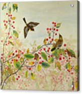 Birds In Autumn Acrylic Print