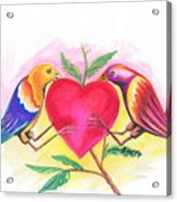 Birds In Love 01 Acrylic Print