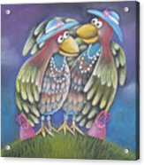 Birds Of A Feather Stick Together Acrylic Print