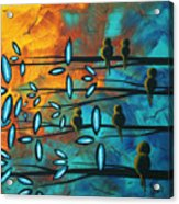 Birds Of Summer By Madart Acrylic Print