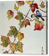 Birds On Maple Tree 4 Acrylic Print
