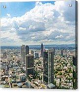 Birdview Of Frankfurt Am Main Acrylic Print