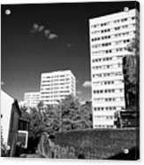 Birmingham Civic Gardens Council Tower Block Estate Uk Acrylic Print