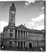Birmingham Museum And Art Gallery With Clock Tower On Chamberlain Square Uk Acrylic Print