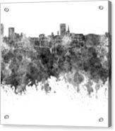Birmingham Skyline In Black Watercolor On White Background Acrylic Print