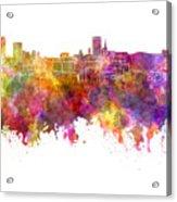 Birmingham Skyline In Watercolor On White Background Acrylic Print
