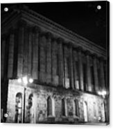 Birmingham Town Hall In The City Centre At Night England Uk Acrylic Print