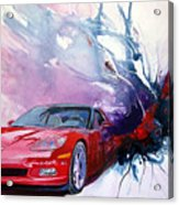 Birth Of A Corvette Acrylic Print