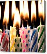 Birthday Candles Acrylic Print