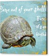 Birthday Card - Painted Turtle Acrylic Print