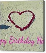 Birthday Card For Lover Acrylic Print