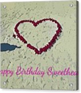 Birthday Card For Sweethearts Acrylic Print