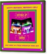 Birthday Girl's Birthday Wishes Acrylic Print