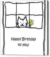 Birthday Greeting Card Acrylic Print
