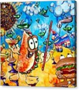 Birthday Party With Mister Taco And Piata Acrylic Print