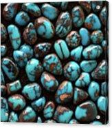 Bisbee Turquoise Acrylic Print by Sergio Salvador