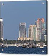 Biscayne Bay At Miami Yatch Club Acrylic Print