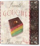 Biscuits Gouche Patisserie Acrylic Print