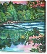 Bisset Park Rapids Acrylic Print