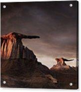 Bisti Badlands, New Mexico, Usa Acrylic Print