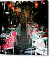 Bistro Chairs Acrylic Print