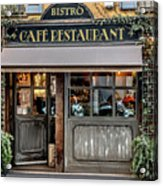 Bistro In Milan Acrylic Print