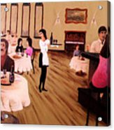 Bistro Mural Detail 4 Acrylic Print