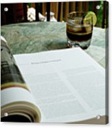 Bistro Table Study, Balcony Garden, Hunter Hill, Hagerstown, Mar Acrylic Print