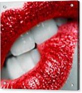 Bit Lip Acrylic Print
