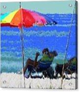 Bit Of Shade On The Beach Acrylic Print