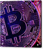 Bitcoin Coins In A Mysterious Lighting Acrylic Print