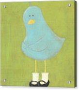 Bitty Bird's New Shoes Nursery Art Acrylic Print