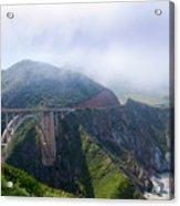 Bixby Bridge Fog Acrylic Print