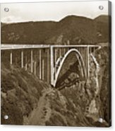 Bixby Creek Aka Rainbow Bridge Bridge Big Sur Photo  1937 Acrylic Print