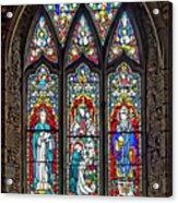 Black Abbey Window - Kilkenny - Ireland Acrylic Print
