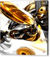 Black Amber Abstract Acrylic Print