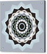 Black And Blue Mandala Acrylic Print