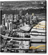 Black And Gold Pittsburgh  Acrylic Print